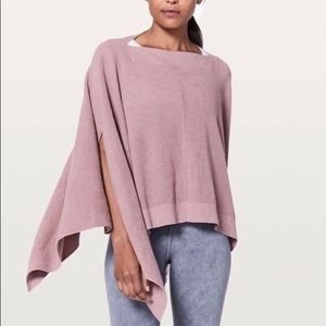 Lululemon pink divinity poncho with arm holes